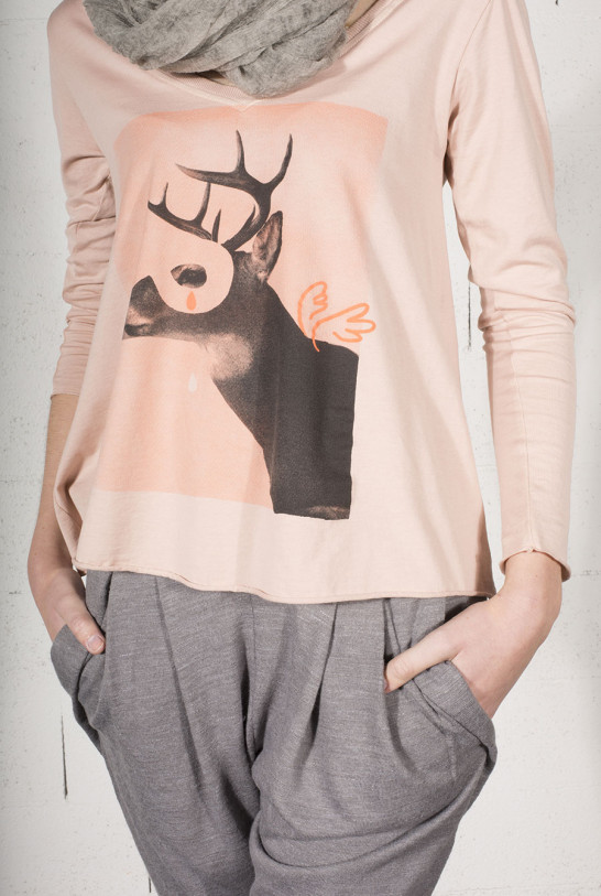 Tee-shirt oversize femme print cerf volant